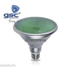 BOMBILLA PAR38 IP65 LED 18W E27 Luz Verde 230V, Lampara jardin exteriores y grow