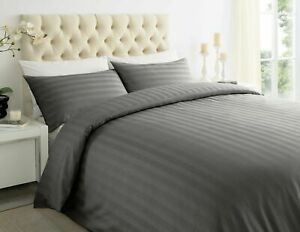 3 PC Deep Fitted Sheet 1000 Thread Stripe Egyptian Cotton All Sizes With Pillow