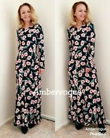 ZARA LONG FLORAL PRINTED MIDI DRESS SIZE XS 6 8