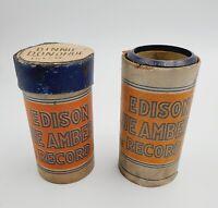 2 VTG Edison Ediphone Blue Amberol Phonograph Cylinder Records #'s 4054 & 4142