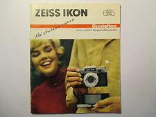 Prospekt Zeiss Ikon Contaflex  1960er Jahre 16 Seiten