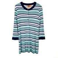 Tory Burch Women's Printed Long Sleeve Silk Shift Dress Size Medium M D1596