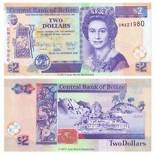 Belize 2 Dollars 2014 P-66e Banknotes UNC