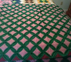 Cathedral Windows Quilt. 100% Hand Stitched