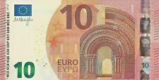 10 Euro Banknote Uncirculated Legal Tender Prefix U France 2014