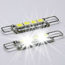 2x Hook rigid loop türbeleuchtung 4 SMD 44mm LED blanco chrysler 300c interior