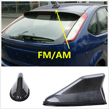 Autos Car Roof Radio AM/FM Signal Shark Fin Aerial Antenna Carbon Fiber Style