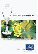 Publicité Advertising 067  1996  Cristal d'Arques   verre Granville