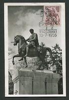POLEN MK 1956 REITER DENKMAL PFERD HORSE MAXIMUMKARTE MAXIMUM CARD MC CM d2929
