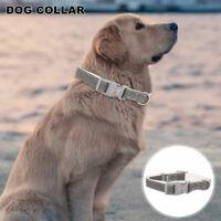 Personnalisé étiquette collier chien chiot cuir qualité supérieure 3 tailles ME