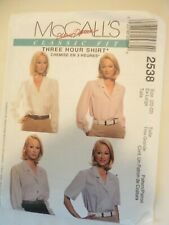 Vintage 1999 Sewing Pattern The 3 Hour Shirt Size Xl 20 / 22 Uncut