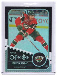 Martin Havlat 2011-12 O-Pee-Chee Black Rainbow Parallel Card #144 /100