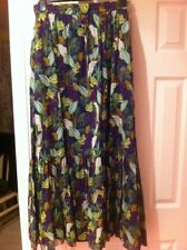 Next Skirt Size 10 New Maxi Boho Hippy Leafy Print Cockatoo Leaves Leaf Green