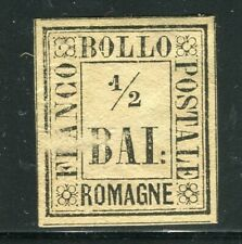 ITALY; ROMAGNE 1850s classic Imperf issue fine mint unused 1/2b. value