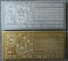 Birthday Age Numbers - Gold & Silver Cardmaking Peel Offs Sticker Sheets