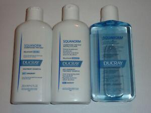 Ducray Squanorm Anti-Dandruff Treatment Shampoo Dry Oily / Zinc Lotion - 200ml