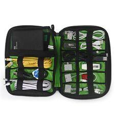 Portable Digital USB Cable Earphone Travel Insert Storage Organizer Bag Case