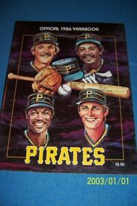 1986 PITTSBURGH PIRATES Yearbook ROOKIE Prospect BARRY BONDS Jim LEYLAND
