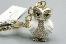 NWT Kate Spade Snow Owl w/ Swarovski Crystal Key Chain/ Fob / Charm