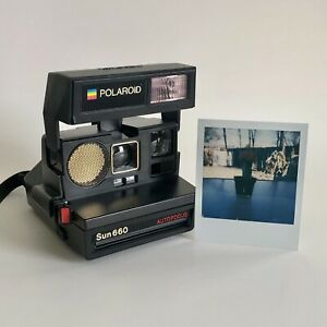 Vintage Polaroid Sun 660 Autofocus Instant Film 600 Camera Tested & Working 📸