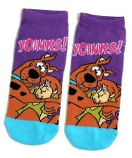 LADIES SCOOBY-DOO AND SHAGGY SHOE LINER SOCKS UK 4-8 EUR 37-42 USA 6-10
