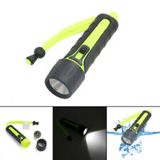 LED Scuba Diving Flashlight Torch Underwater 10M Waterproof 4*AA Battery