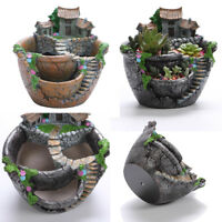 Resin Succulent Plant Planter Flowerpot Desktop Potted Holder Decor Flower Pot