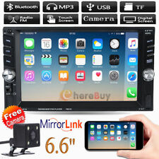 "6.6"" 2DIN Auto Car MP5 MP3 Player Bluetooth Touch USB FM Stereo Radio + Camera"