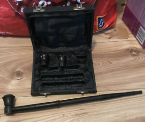 Extra large ebony Pipe good condition. Comes In Box