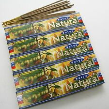 Räucherstäbchen Natural 75g Satya Nag Champa  5x15g indien