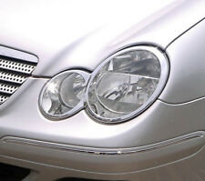 MERCEDES C CLASS CL203 COUPE 2 DOOR CHROME HEADLIGHT TRIM
