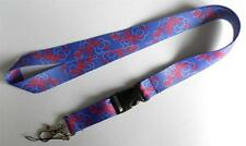 MOBILE PHONE/IDENTITY CARD NECK STRAP LANYARD PURPLE & PINK BUTTERFLY/FLOWER