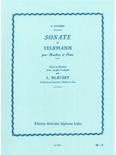 Georg Philipp Telemann Sonata en un menor oboe y libro de música de piano barroco oboe