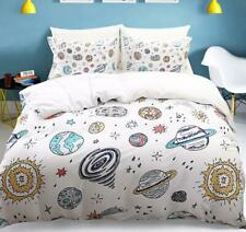 New Queen King size Galaxy Cartoon Printed Comforter Set Pillowcase Bedding Sets