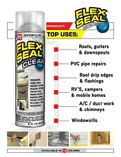 Flex Seal CLEAR Spray Rubberized Coat Sealant Stop Leaks Wet And Dry 14Oz Can