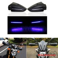Carbon Motorcycle LED Hand Guards Protector Universal For Honda Suzuki KTM BMW