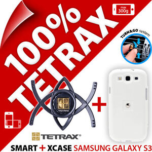 New Tetrax Bundle For Samsung i9300 Galaxy S3 Smart In Car Holder + Xcase (White