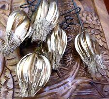 5 X BEAUTIFUL BUNCH DRIED GOLD SPRAYED PODS 80-87CM LENGTH UNUSUAL/STUNNING