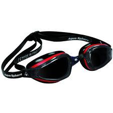 Aqua Sphere K-180 Smoke Lens Competition Swim Goggles - Black/Red