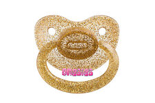 Adult Sized Glittery Gold Pacifier/Dummy NUK 6 | For Adult Baby ABDL DDLG |