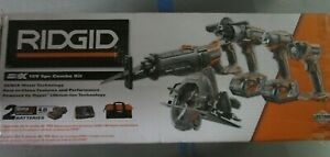 RIDGID GEN5X 18V 5pc Combo Kit w/ 2 Batteries R9652 BRAND NEW