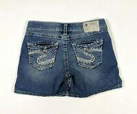 Silver Jeans McKenzie Flap Pocket Size 27 Medium Wash Jean Shorts