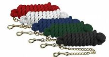 """Showman 10' Horse Training Cotton Lead Rope Line Swivel 18"""" Brass Plated Chain"""