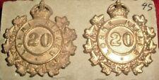 COLLAR BADGES-MATCHED PAIR CANADIAN PRE 1914 MILITA 20th LORNE RIFLES