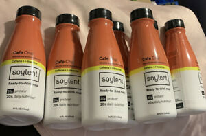 NEW LOT OF 7 Soylent Cafe Chai Plant Protein Meal Replacement Shake 14fl oz EACH