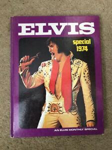 Rare Elvis Presley book ELVIS SPECIAL 1974 Hard back original