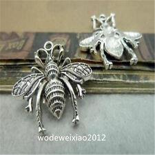 30pc Tibetan Silver abeilles Charms Perles Pendentif Artisanat Bijoux Accessoires DG717