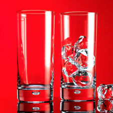 Set of 4 x 17 Oz. Air Bubble Base Highball Beverage Glasses Red Series Drinkware