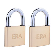 Era Solid Brass Padlock - ( Keyed-Alike ) 40mm Twin Pack (IP-40BST-CL)