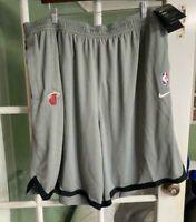 Men's Nike Miami Heat NBA Basketball Shorts Gray Comfort AV1811-002 Size M-TALL